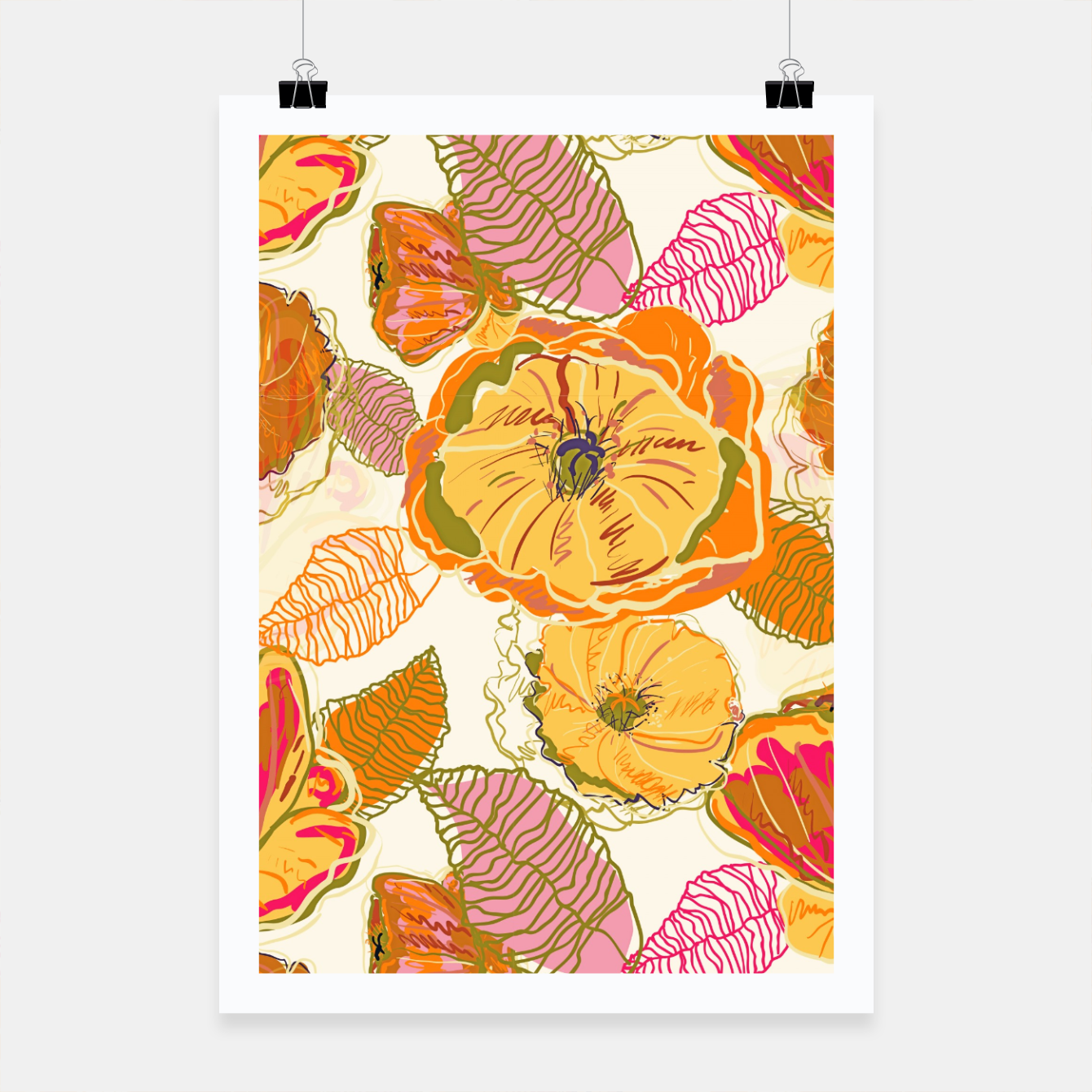 Image of Fall Floral Poster - Live Heroes