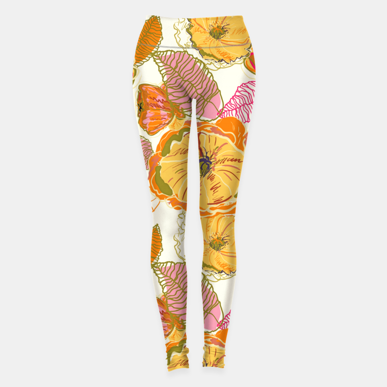 Image of Fall Floral Leggings - Live Heroes