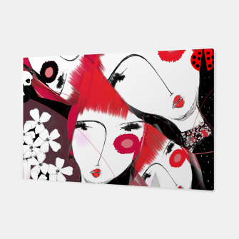 Miniatur girls red hair cherry blossom  cool design  Toile, Live Heroes