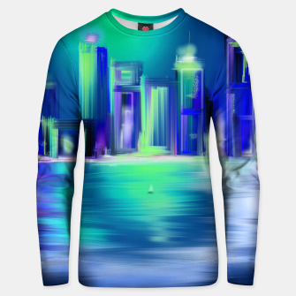 Thumbnail image of Cityscape building by night fun colors  Unisex pull, Live Heroes