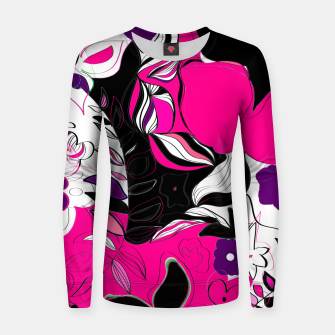 Thumbnail image of flowers pink and black  Pull femme , Live Heroes
