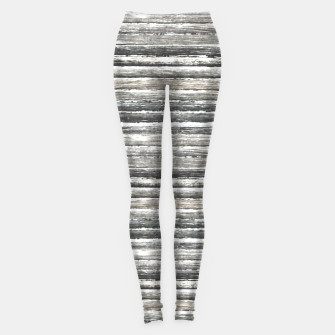 Miniatur Grunge Stripes Design Print Leggings, Live Heroes
