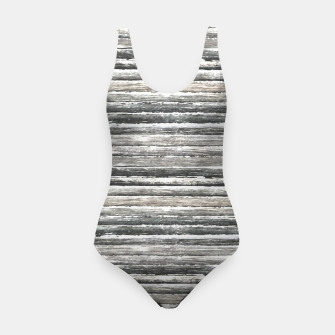 Miniatur Grunge Stripes Design Print Swimsuit, Live Heroes