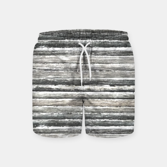 Miniatur Grunge Stripes Design Print Swim Shorts, Live Heroes