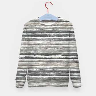 Miniatur Grunge Stripes Design Print Kid's sweater, Live Heroes