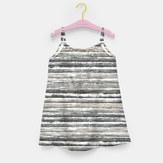 Miniatur Grunge Stripes Design Print Girl's dress, Live Heroes