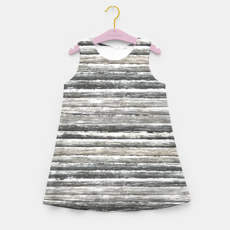 Miniatur Grunge Stripes Design Print Girl's summer dress, Live Heroes