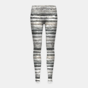 Miniatur Grunge Stripes Design Print Girl's leggings, Live Heroes