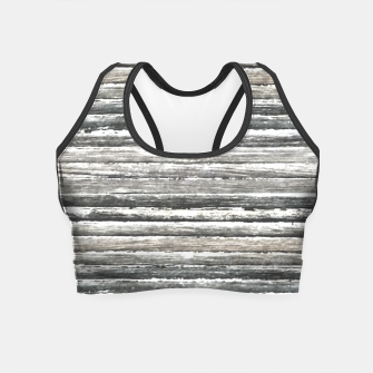 Thumbnail image of Grunge Stripes Design Print Crop Top, Live Heroes