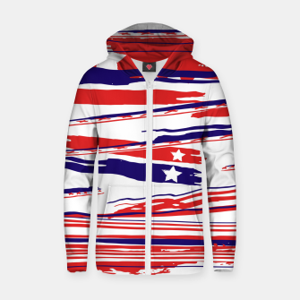 Thumbnail image of 4th of July Zip up hoodie, Live Heroes
