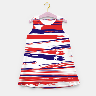Thumbnail image of 4th of July Girl's summer dress, Live Heroes