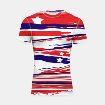 Thumbnail image of 4th of July Shortsleeve rashguard, Live Heroes