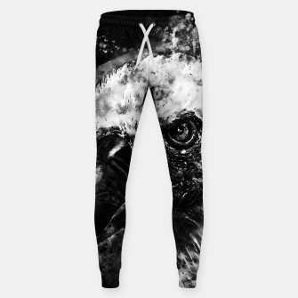 Thumbnail image of face of a vulture wsbw Sweatpants, Live Heroes