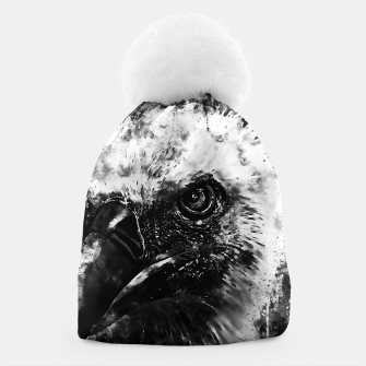 Thumbnail image of face of a vulture wsbw Beanie, Live Heroes