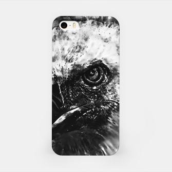 Miniature de image de face of a vulture wsbw iPhone Case, Live Heroes