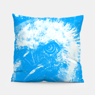 Thumbnail image of face of a vulture wswb Pillow, Live Heroes