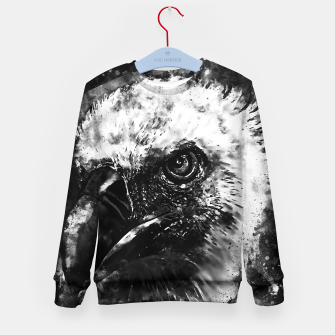 Miniature de image de face of a vulture wsbw Kid's sweater, Live Heroes
