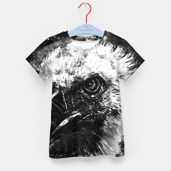 Thumbnail image of face of a vulture wsbw Kid's t-shirt, Live Heroes