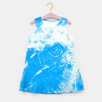 Miniature de image de face of a vulture wswb Girl's summer dress, Live Heroes