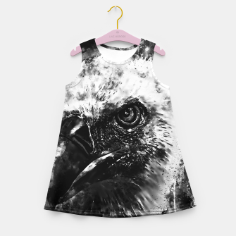 Miniature de image de face of a vulture wsbw Girl's summer dress, Live Heroes