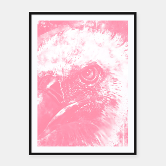 Thumbnail image of face of a vulture wspw Framed poster, Live Heroes