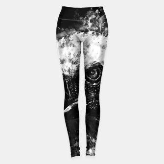 Thumbnail image of face of a vulture wsbw Leggings, Live Heroes