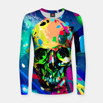 Thumbnail image of Abstract Skull Women sweater, Live Heroes