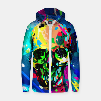 Thumbnail image of Abstract Skull Zip up hoodie, Live Heroes