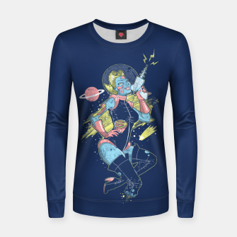 Thumbnail image of Space Zombie Women sweater, Live Heroes