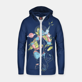 Thumbnail image of Space Zombie Zip up hoodie, Live Heroes