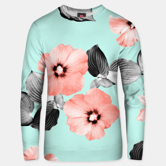 Living Coral Floral Dream #3 #flower #pattern #decor #art Unisex sweatshirt thumbnail image