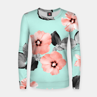Thumbnail image of Living Coral Floral Dream #3 #flower #pattern #decor #art Frauen sweatshirt, Live Heroes
