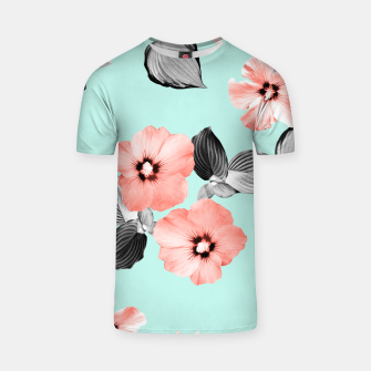 Thumbnail image of Living Coral Floral Dream #3 #flower #pattern #decor #art T-Shirt, Live Heroes