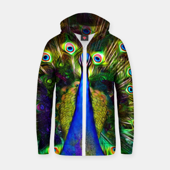 Thumbnail image of Feathered Universe Zip up hoodie, Live Heroes