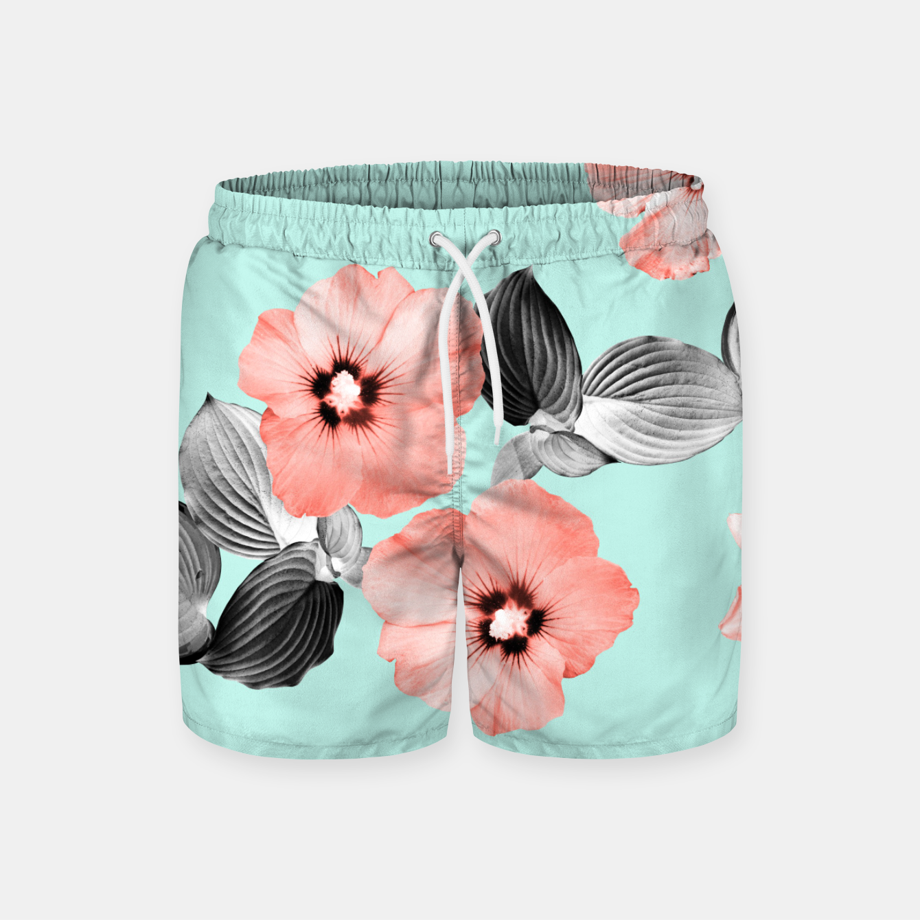 Image of Living Coral Floral Dream #3 #flower #pattern #decor #art Badeshorts - Live Heroes