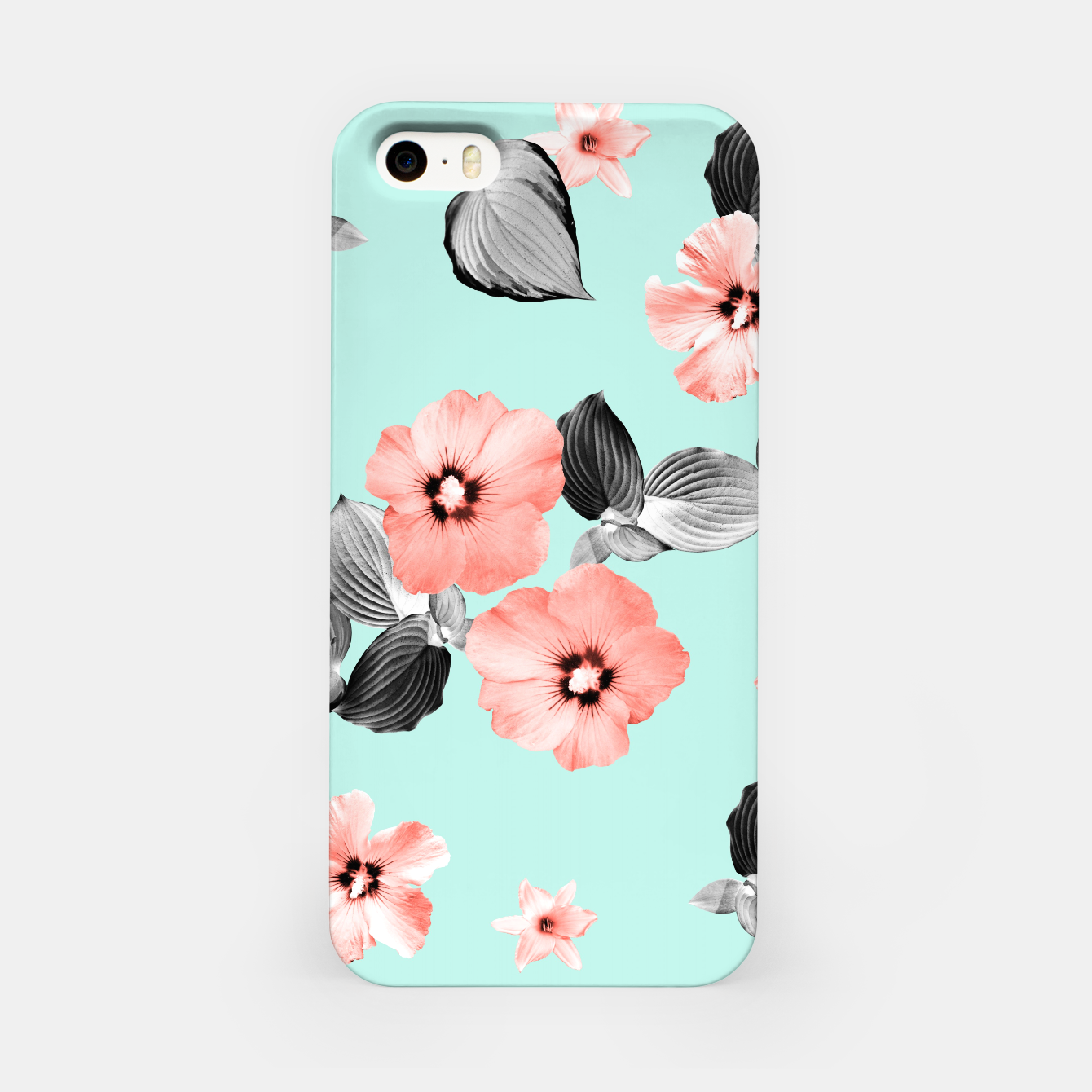 Image of Living Coral Floral Dream #3 #flower #pattern #decor #art iPhone-Hülle - Live Heroes