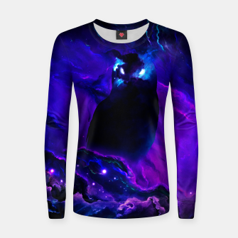 Thumbnail image of Space Owl Women sweater, Live Heroes
