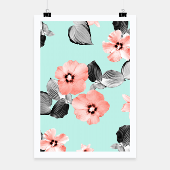 Thumbnail image of Living Coral Floral Dream #3 #flower #pattern #decor #art Plakat, Live Heroes