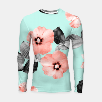 Thumbnail image of Living Coral Floral Dream #3 #flower #pattern #decor #art Longsleeve rashguard, Live Heroes