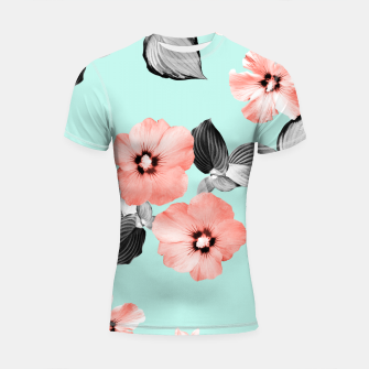 Living Coral Floral Dream #3 #flower #pattern #decor #art Shortsleeve rashguard thumbnail image
