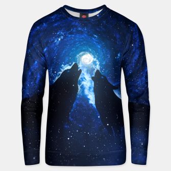 Thumbnail image of Galaxy Howl Unisex sweater, Live Heroes