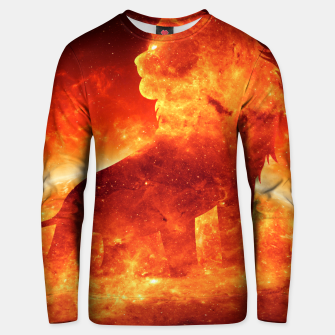 Thumbnail image of Angry Lion Unisex sweater, Live Heroes