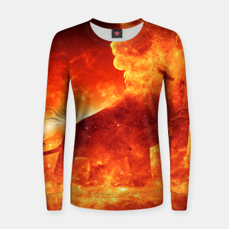 Thumbnail image of Angry Lion Women sweater, Live Heroes