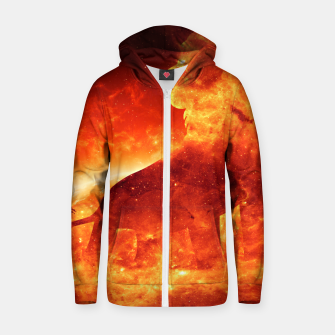 Thumbnail image of Angry Lion Zip up hoodie, Live Heroes