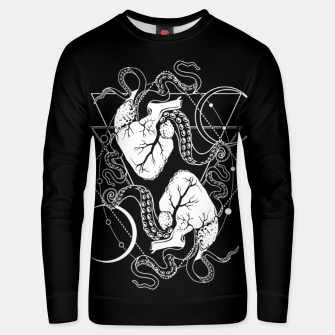 Thumbnail image of Valentine's tentacle hearts Unisex sweater, Live Heroes