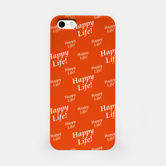 Thumbnail image of Motivational Happy Life Words Pattern iPhone Case, Live Heroes
