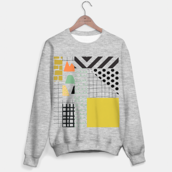minimal abstract yellow Sweater regular thumbnail image