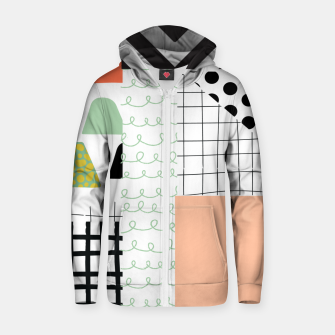 minimal abstract coral Zip up hoodie thumbnail image