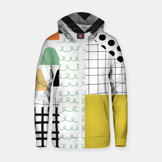 minimal abstract yellow Zip up hoodie thumbnail image