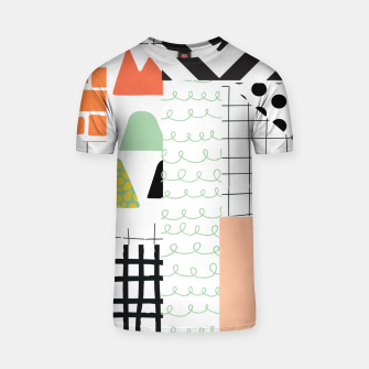 Thumbnail image of minimal abstract coral T-shirt, Live Heroes